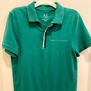 Teal Armani Exchange polo shirt